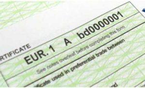 EUR.1 Dolaşım Sertifikası (EUR.1 Movement Certificate)